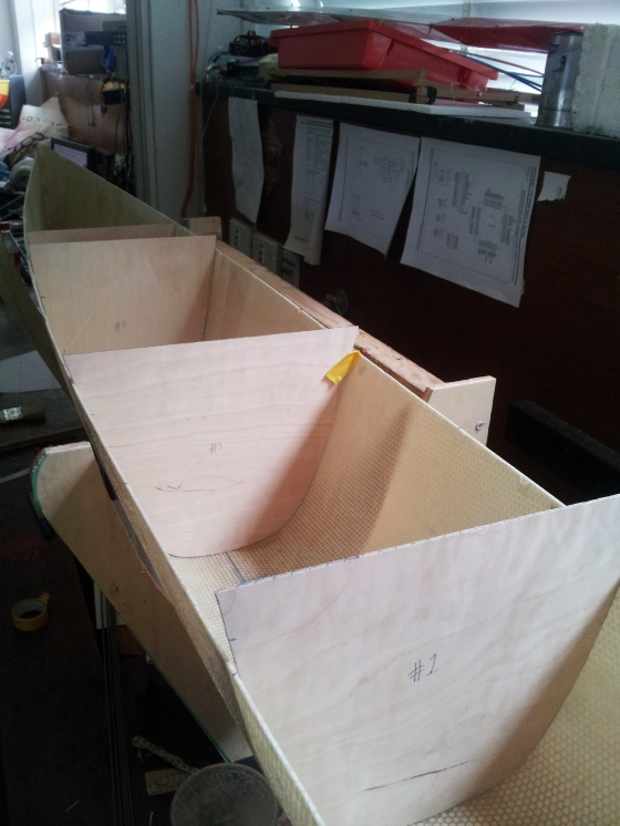 These templates were transferred to plywood.